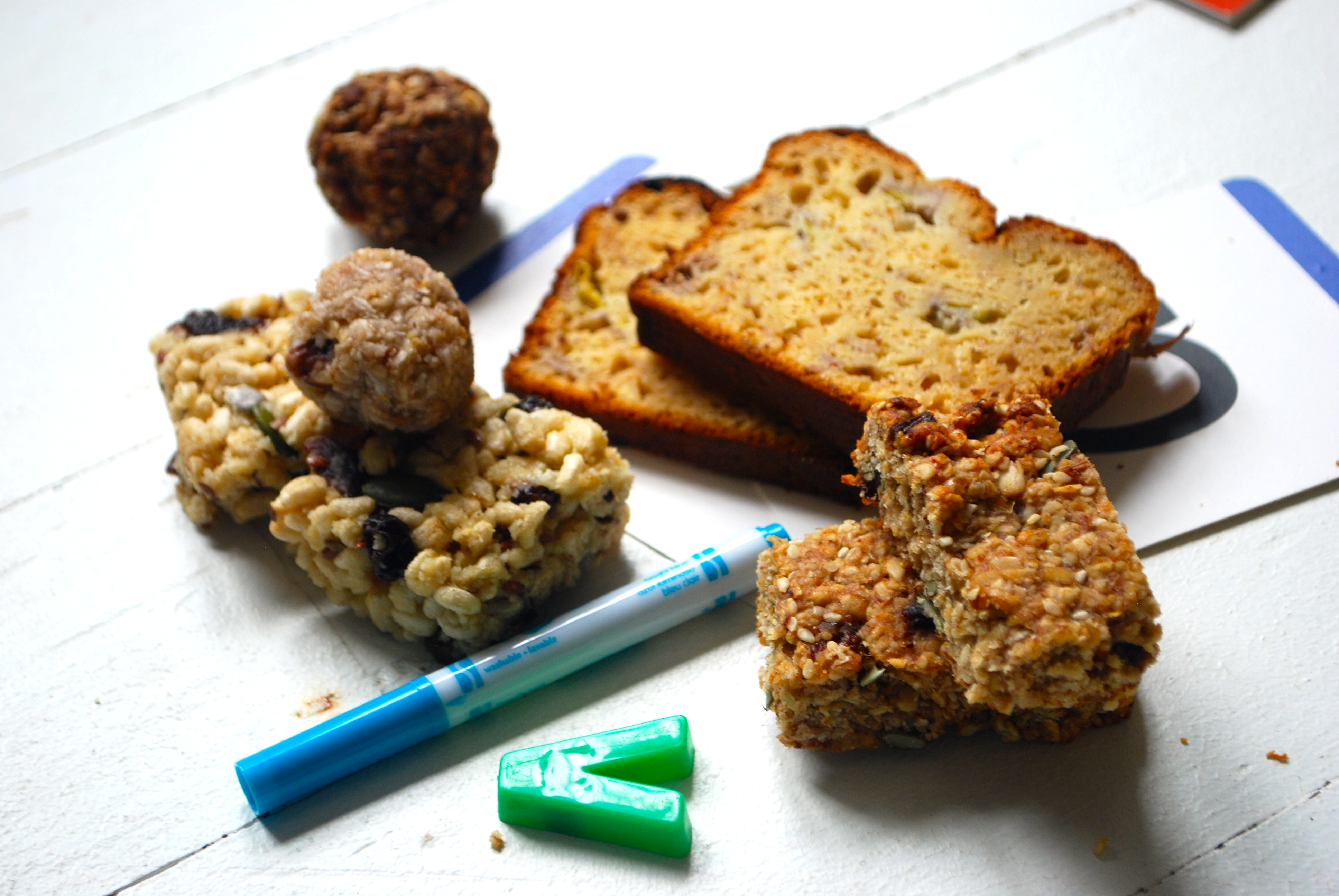 Banana bread and muffins
