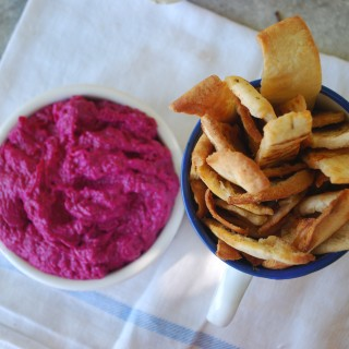Beetroot Tzatziki with Pitta Crisps