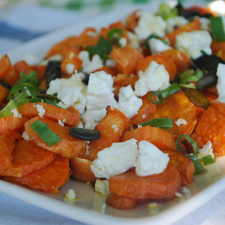Sweet Potato, Feta and Seed Salad