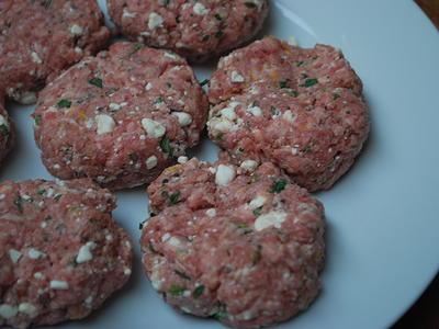 Lamb, Feta & Mint Burgers