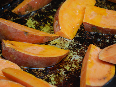 Sweet Potato Chips - preparation