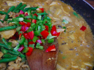 Chicken Coconut Curry - preparation