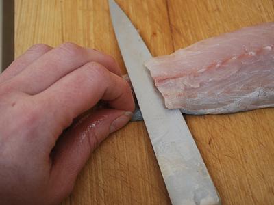 Gluten-Free Fish Fingers - prep