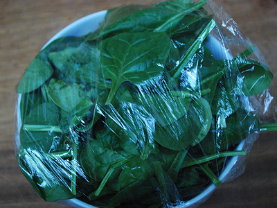 Secret Spinach Sauce - prep