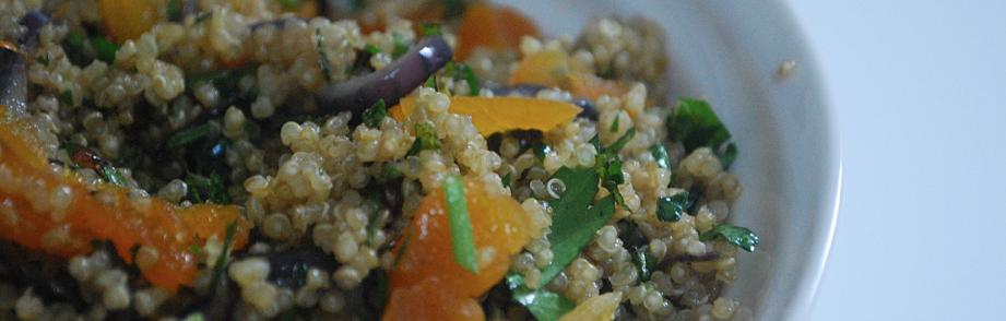 Quinoa with Hazelnuts, Orange, Onion & Herbs