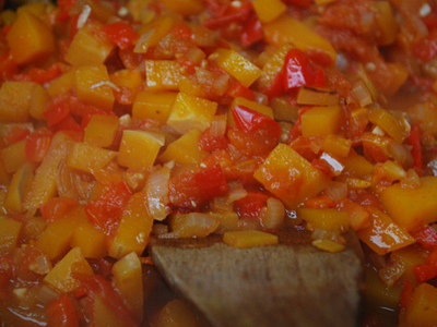 Immune Boosting Pasta Sauce - preparation