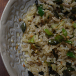 Brown Rice with Spring Onions & Seeds