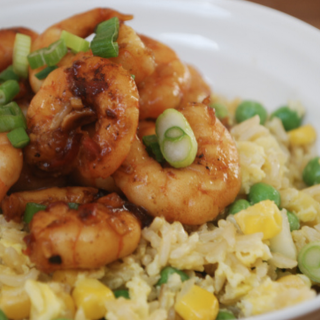 Sesame & Soy Prawns with Egg Fried Rice