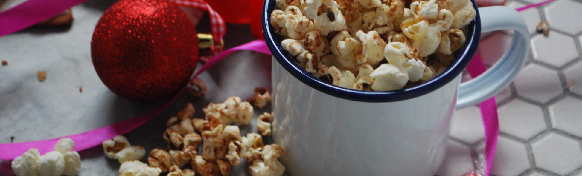 Spiced Maple Popcorn banner