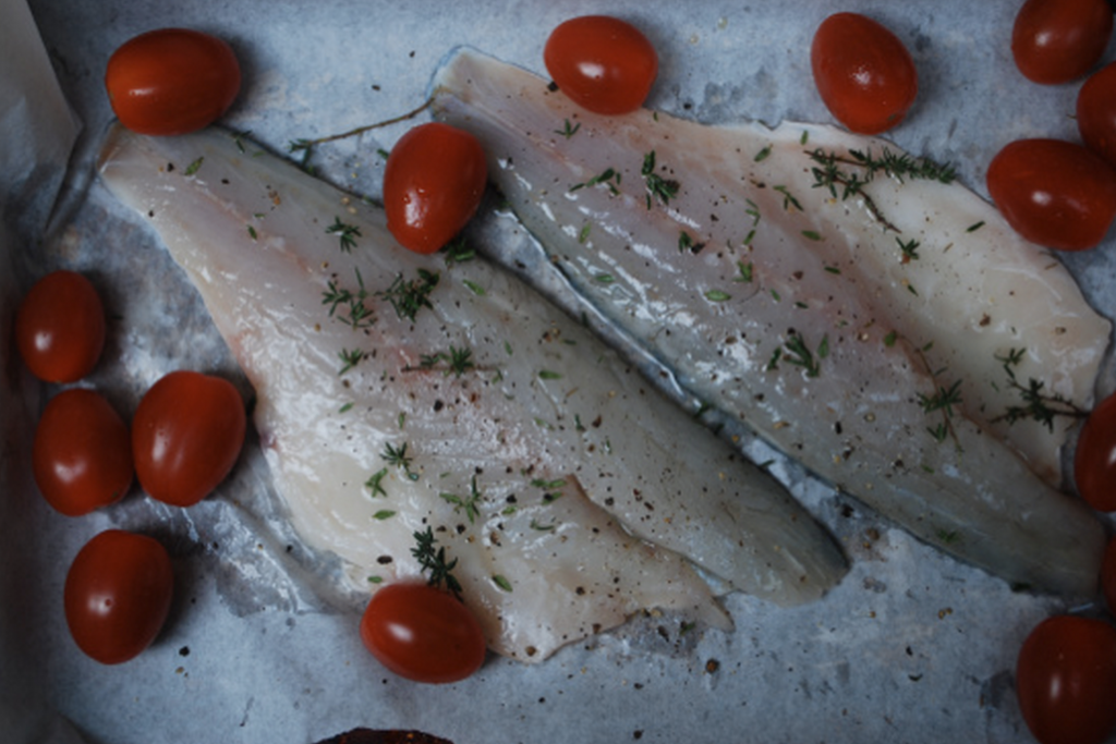 Sea Bass with Tomatoes & Thyme