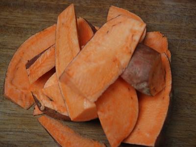 Sweet Potato Chips - preparation