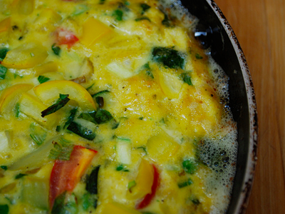 Frittata - cooking