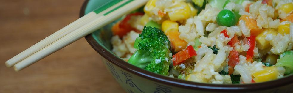 Rice with Sweet Potato & Red Pepper