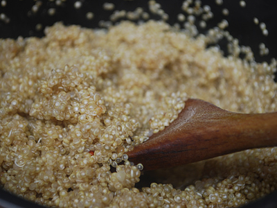 Quinoa with Hazelnuts, Orange, Onion & Herbs - preparation